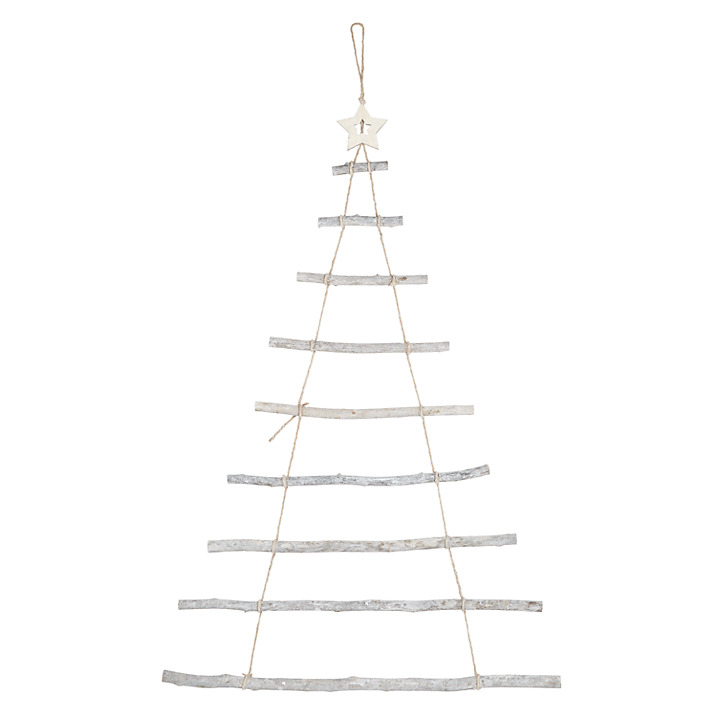 Whitewash Wooden Tree Ladder £10.00 at John Lewis