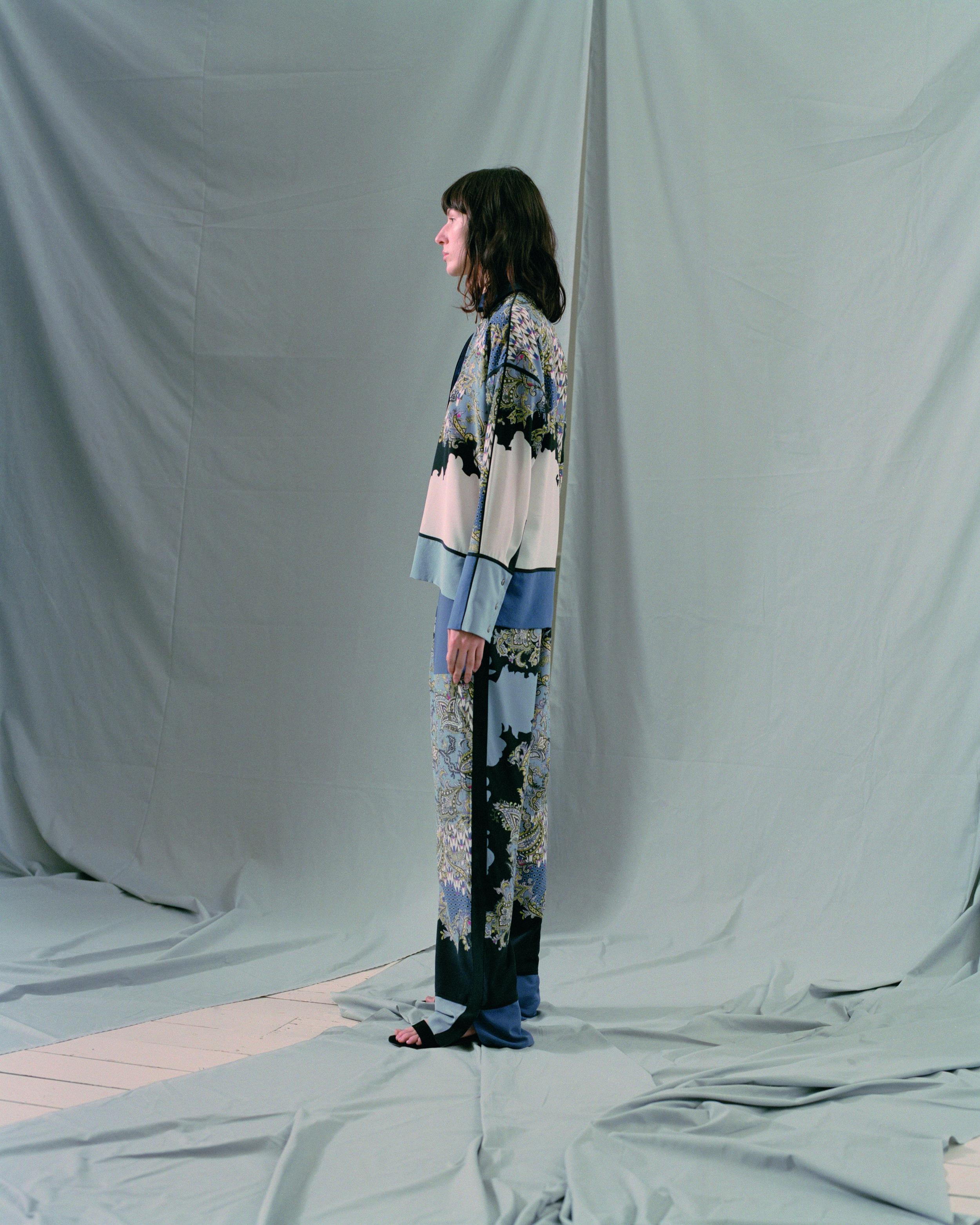 Liv Paisley Silk Trouser