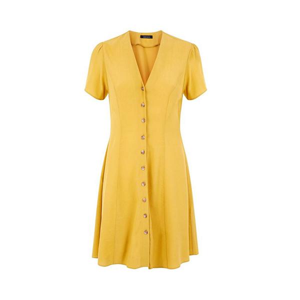 Mustard Yellow Tea Dress at New Look