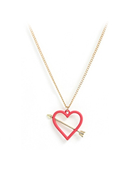 ASOS  Heart & Arrow Pendant