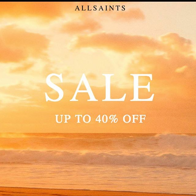 Shop up to 40% off in the @AllSaintsLive sale now! https://bit.ly/2x0oNL8