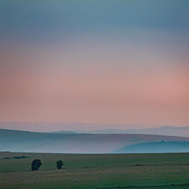 Very enjoyable hues. Who doesn't love misty rolling hills? 😍😍😍 . . . . _ #rollinghills #brightonphotographer #brightonphotography #thisisbrighton #brightonupdaily #devilsdyke #brighton #chilledits #colourshow #canonphotography📷 #mistyhills