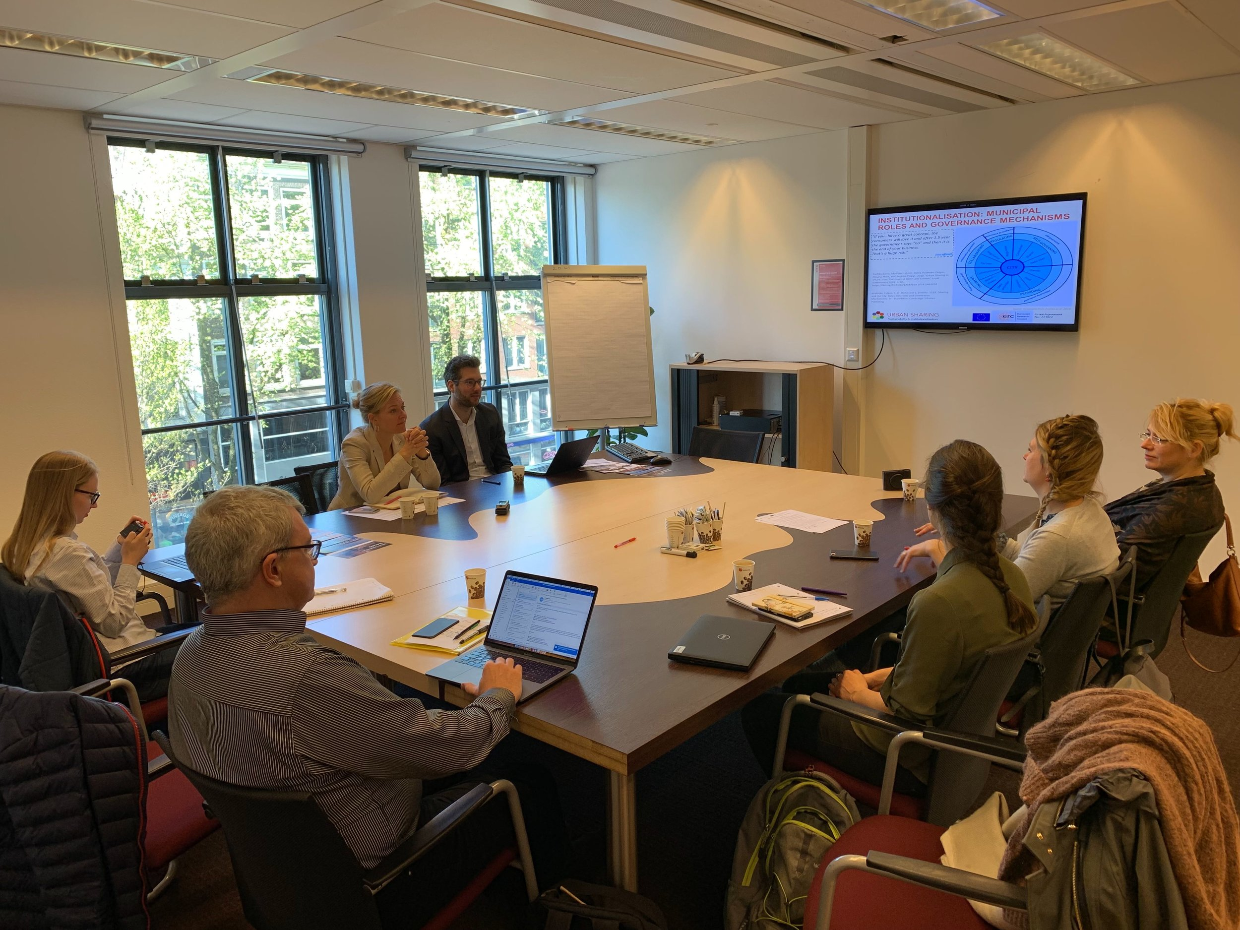 At meeting with the Department of Economic Affairs, the City of Amsterdam.