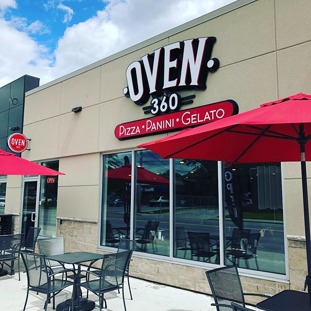 We love keeping the windows fresh at @oven360 and we love the pizza and gelato even more! Neapolitan style 🍕 🍨