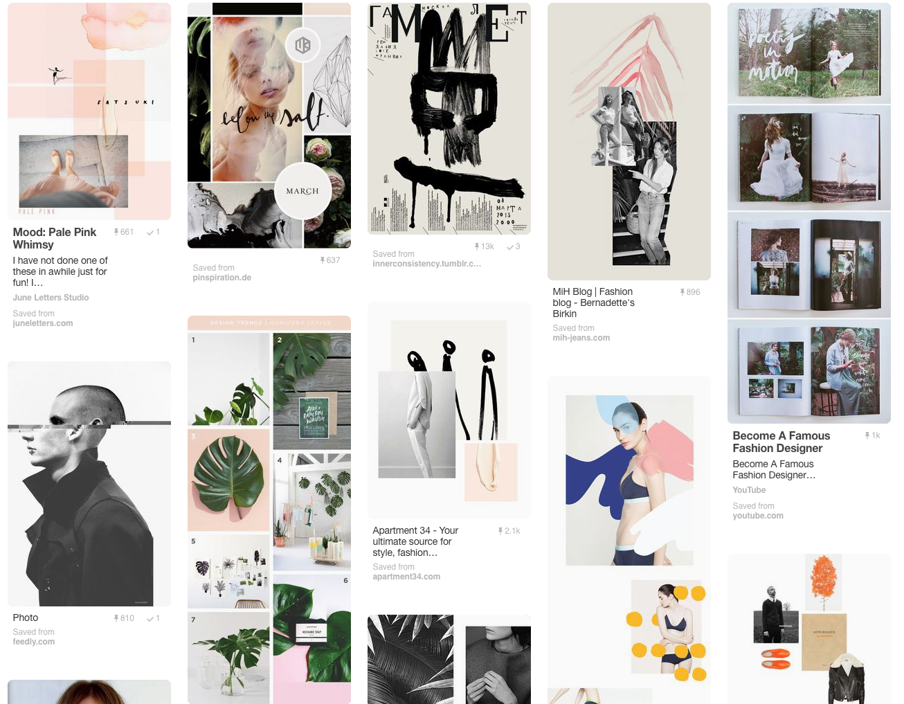 Here a screenshot of the actual mood board that we used for the latest  Stephan Boya  campaign. (Click on the image to seee the actual mood board live on Pinterest.)