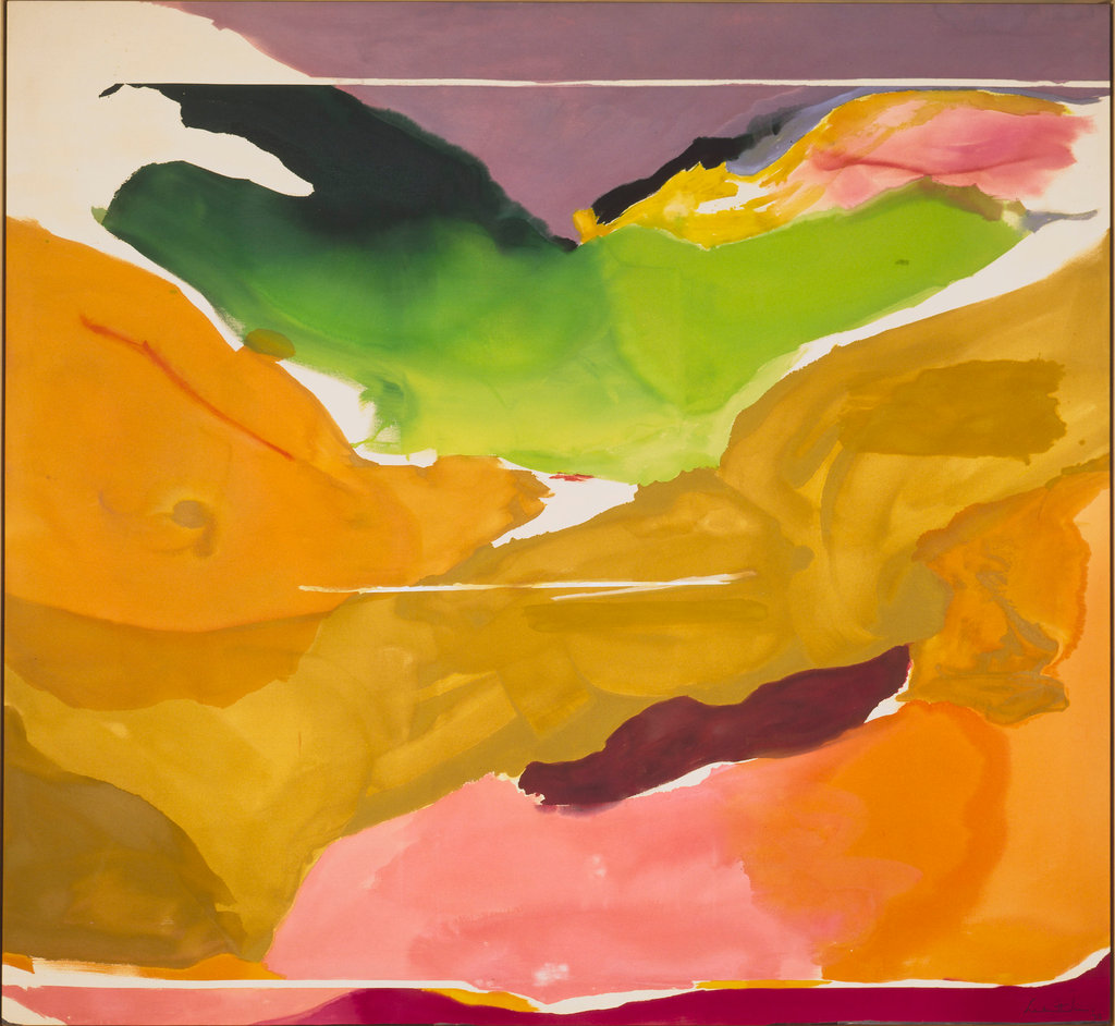 "Helen Frankenthaler's ""Nature Abhors a Vacuum,"" 1973. Patrons' Permanent Fund and Gift of Audrey and David Mirvish, Toronto, Canada. National Gallery of Art, Washington.CreditHelen Frankenthaler/Artists Rights Society (ARS), New York — via National Gallery of Art"