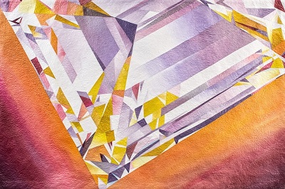Note: Image shows only a portion of the actual diamond. Please see full image of  Copper Queen in the Gallery.