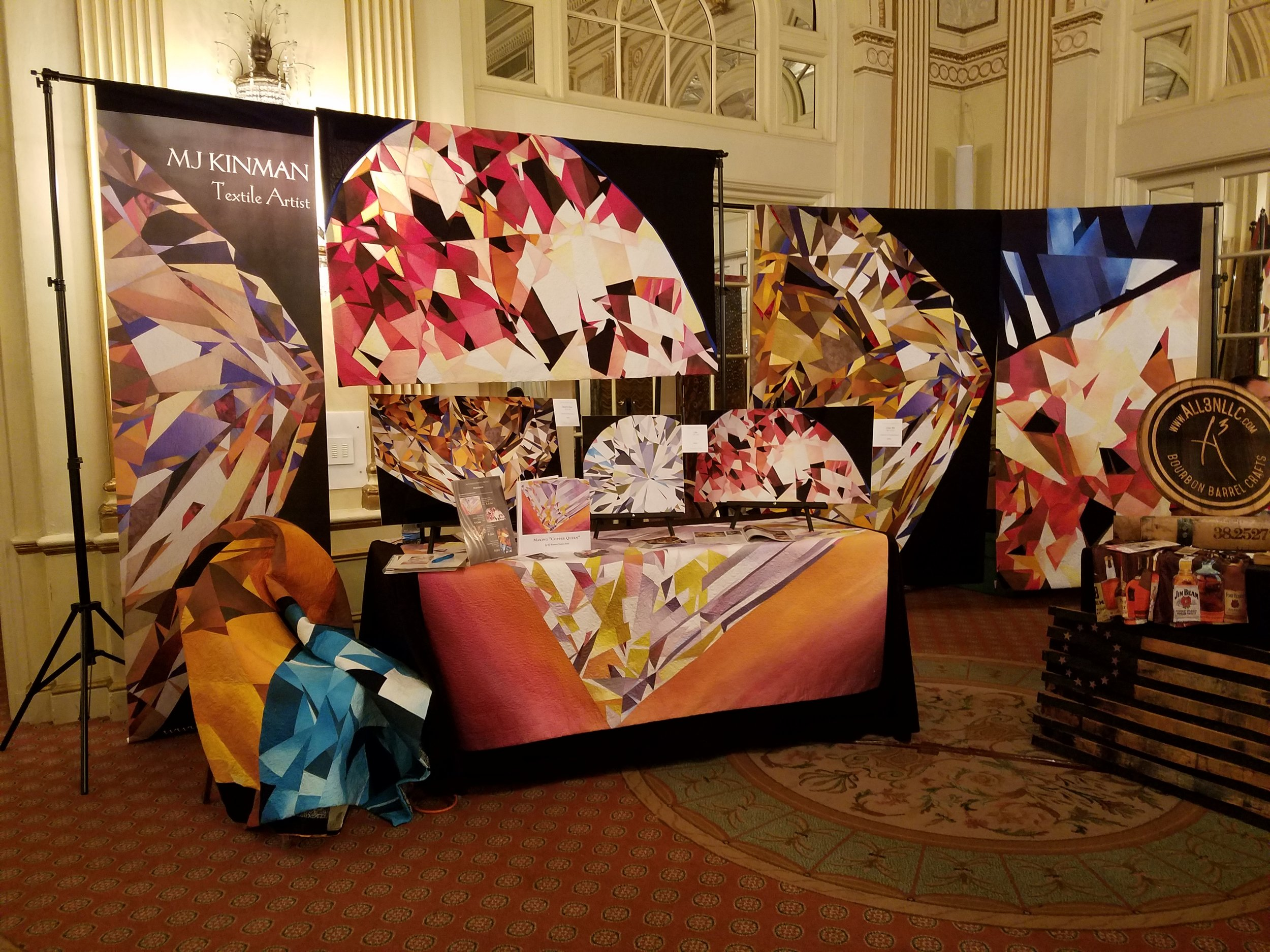 "My Bourbon diamond display at the August 2018 Bourbon Women Association's ""sip-osium"""