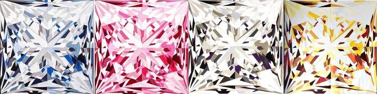 Four gemstones in a Row Elizabeth colorway