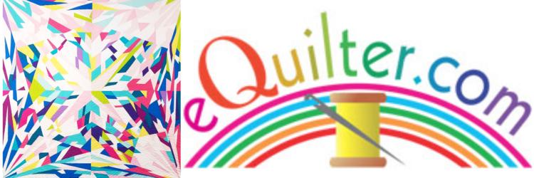multicolor mockup of a gemstone quilt