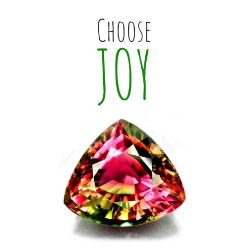 Choose Joy colorful gemstone
