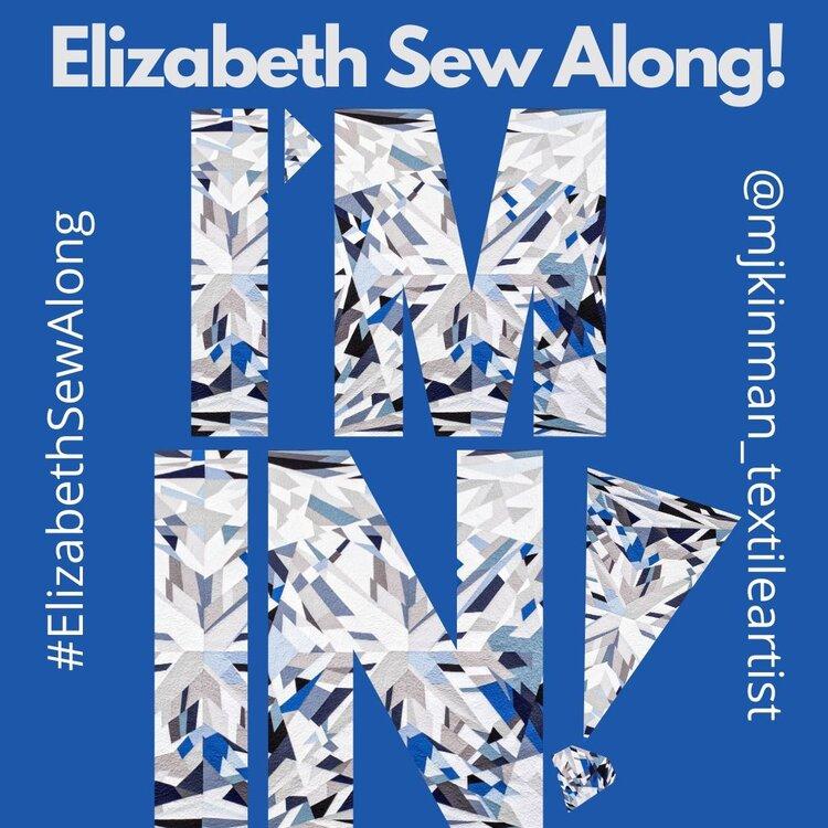 Blue Elizabeth Sew Along Instagram