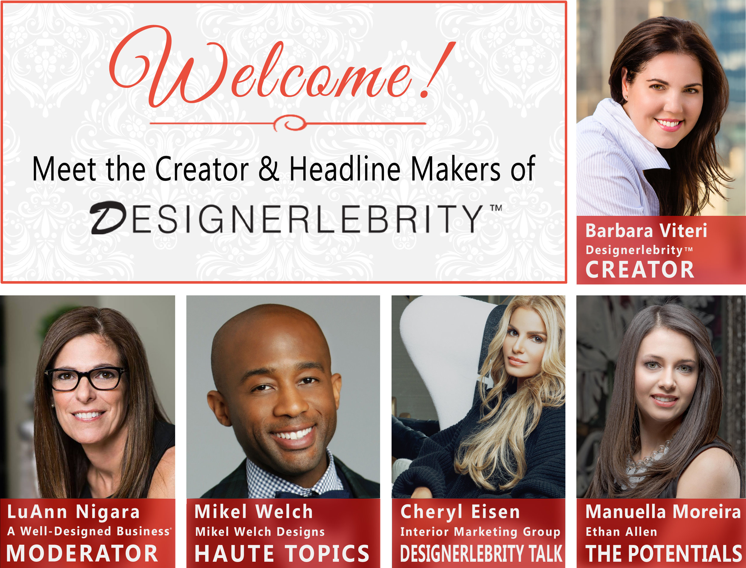 Manuella Moreira - Keynote speaker at the Designerlebrity event hosted by Ethan Allen on May 17th. The event broke Tastefully Inspired Facebook LIVE viewing records and became Ethan Allen's flatiron location most shared design event on social media.