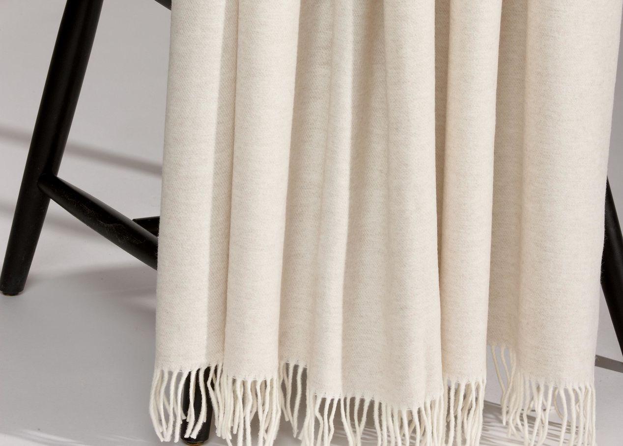 Merino Wool Throw, Sand