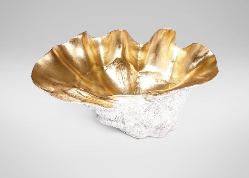 Large Gold-Plated Clam Shell