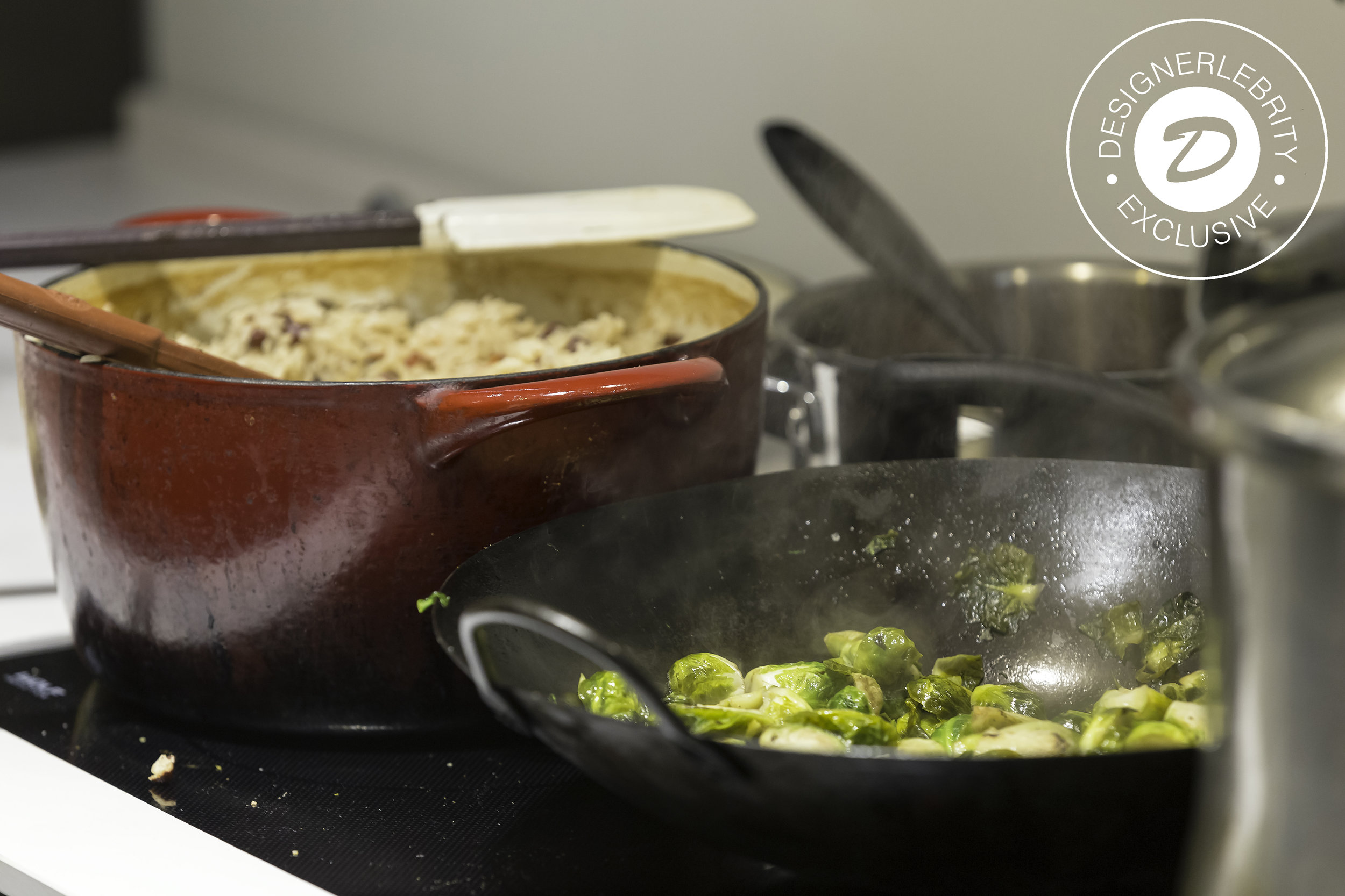 Oven Roasted Brussels Sprouts w/ Red Wine Vinegar Gastrique -