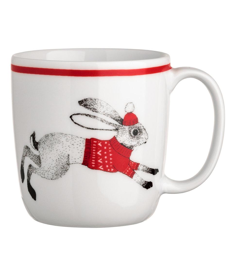 Christmas-motif Porcelain Mug