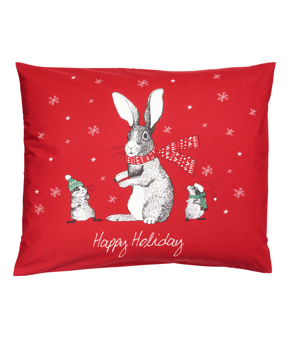 Christmas-print Pillowcase