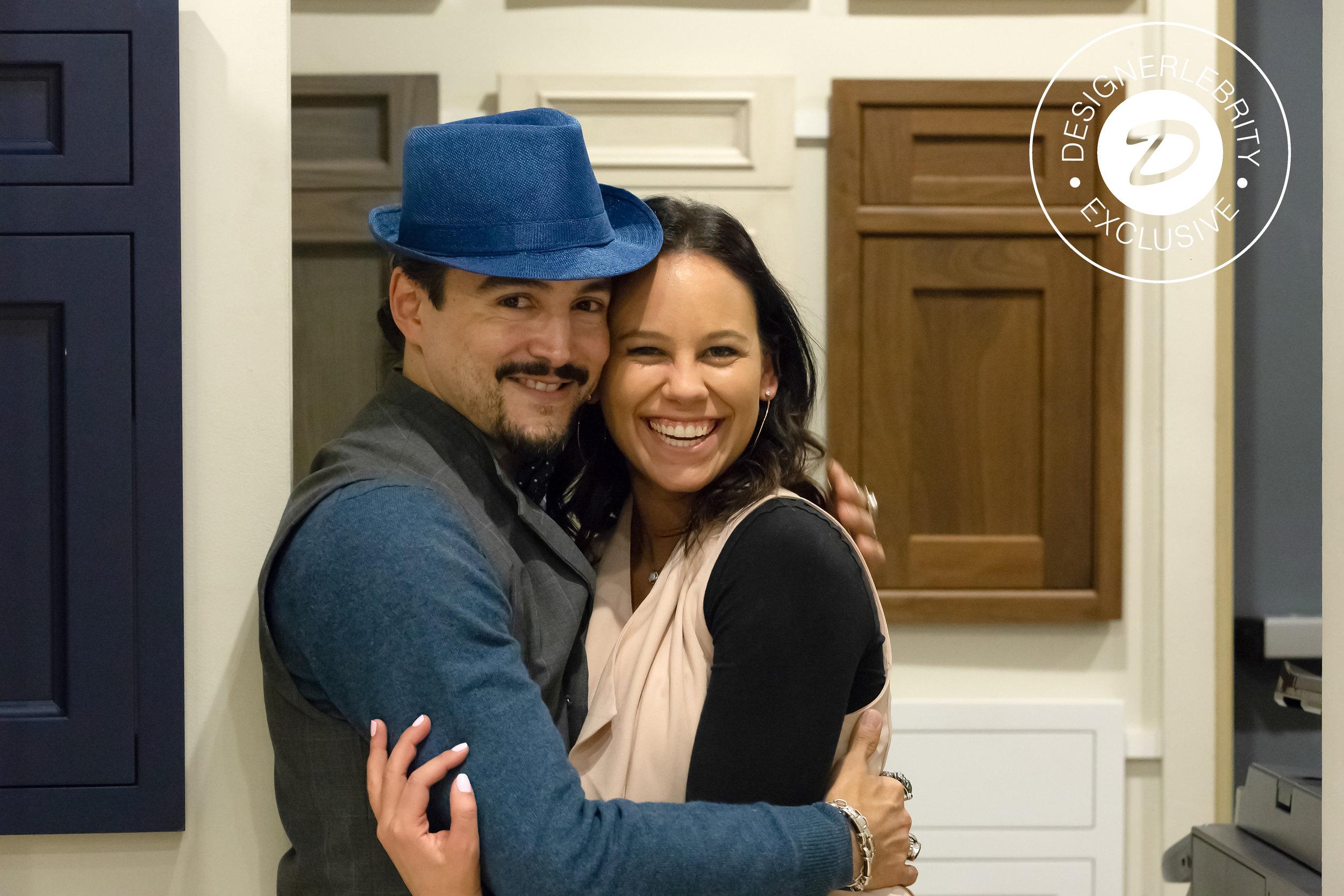 David with Showcase Kitchen's Alicia Friscia