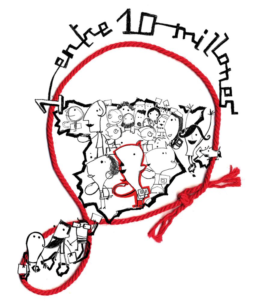 Ilustraciones para el el website www.unoentrediez millones.com. 50 Aniversario del concurso de escritura de Coca Cola.