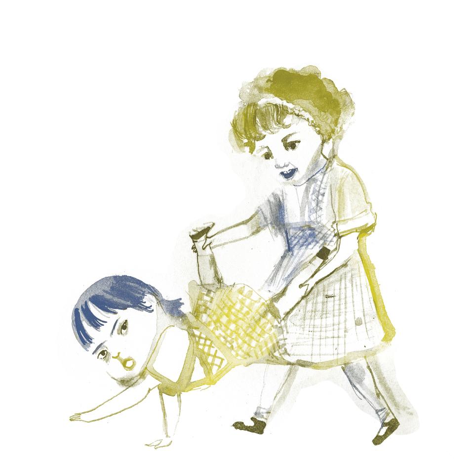 """Ilustraciones para el artículo """"Sobre mi hermana"""" de Laura Escuela. Revista """"La Leche"""". Número 2."""