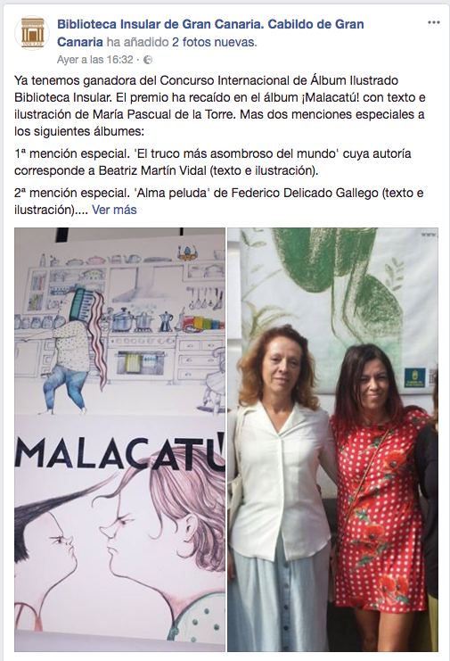 Anuncio#Premio@CIAIBI#Malacatu@Concurso#Internacional#Album#ilustrado#Biblioteca#Insular