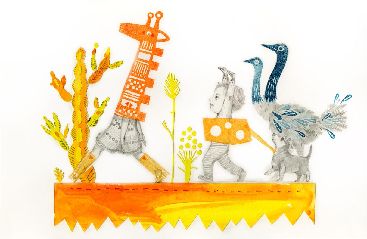 Zancadas de girafa.  Giraffe strides.