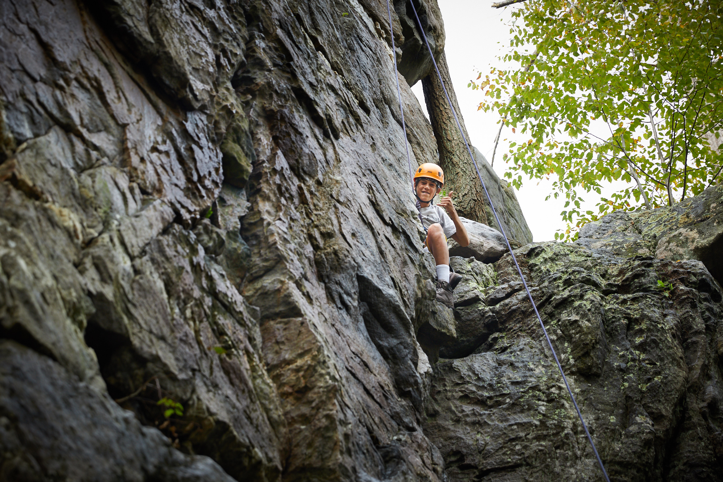 St. Paul School at Outward Bound course at Shaffer Rock, Michaux State Park, PA. [image © Matthew Rakola]