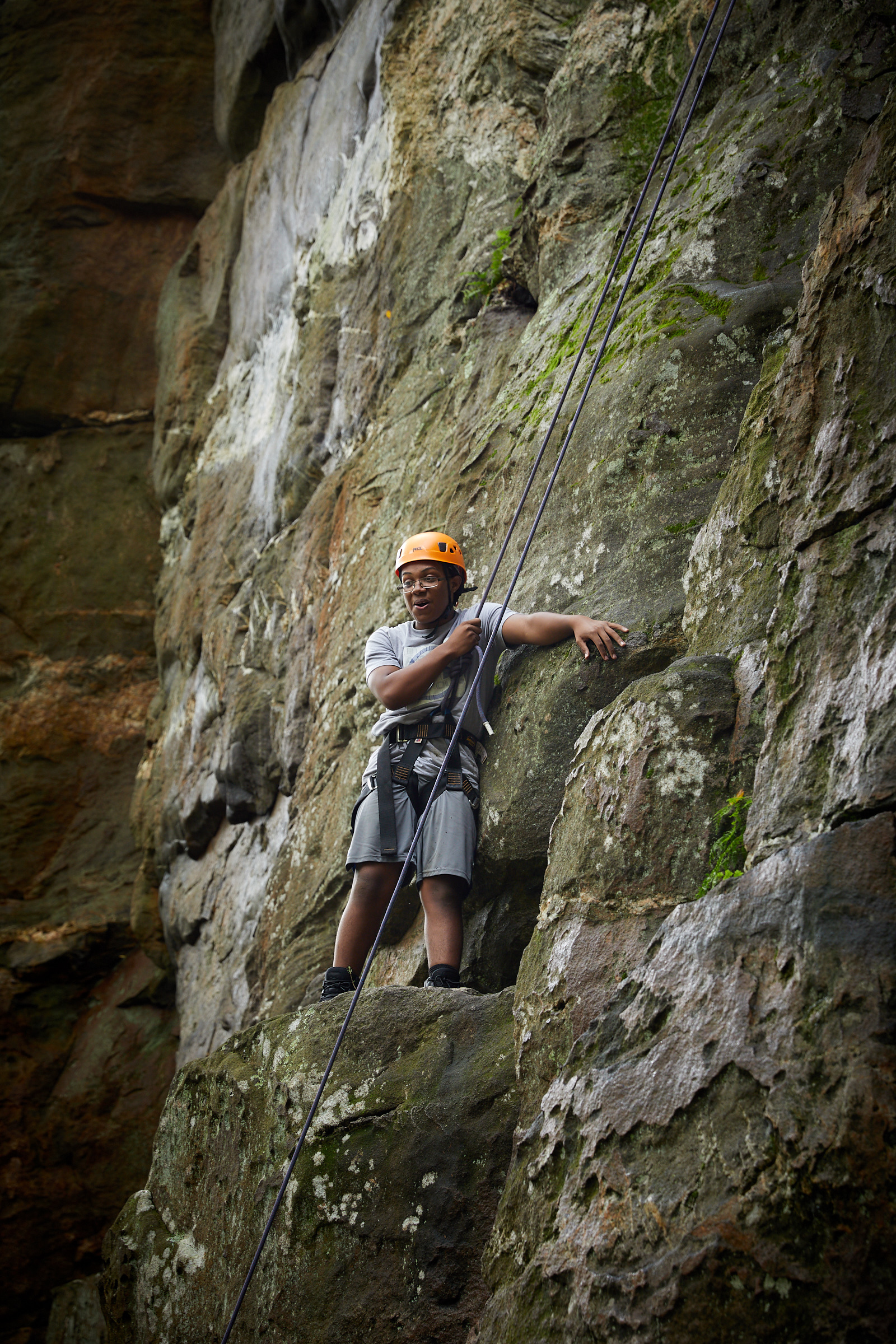 St. Paul School at Outward Bound course at Shaffer Rock, Michaux State Park, PA. [image © Matthew Rakola]