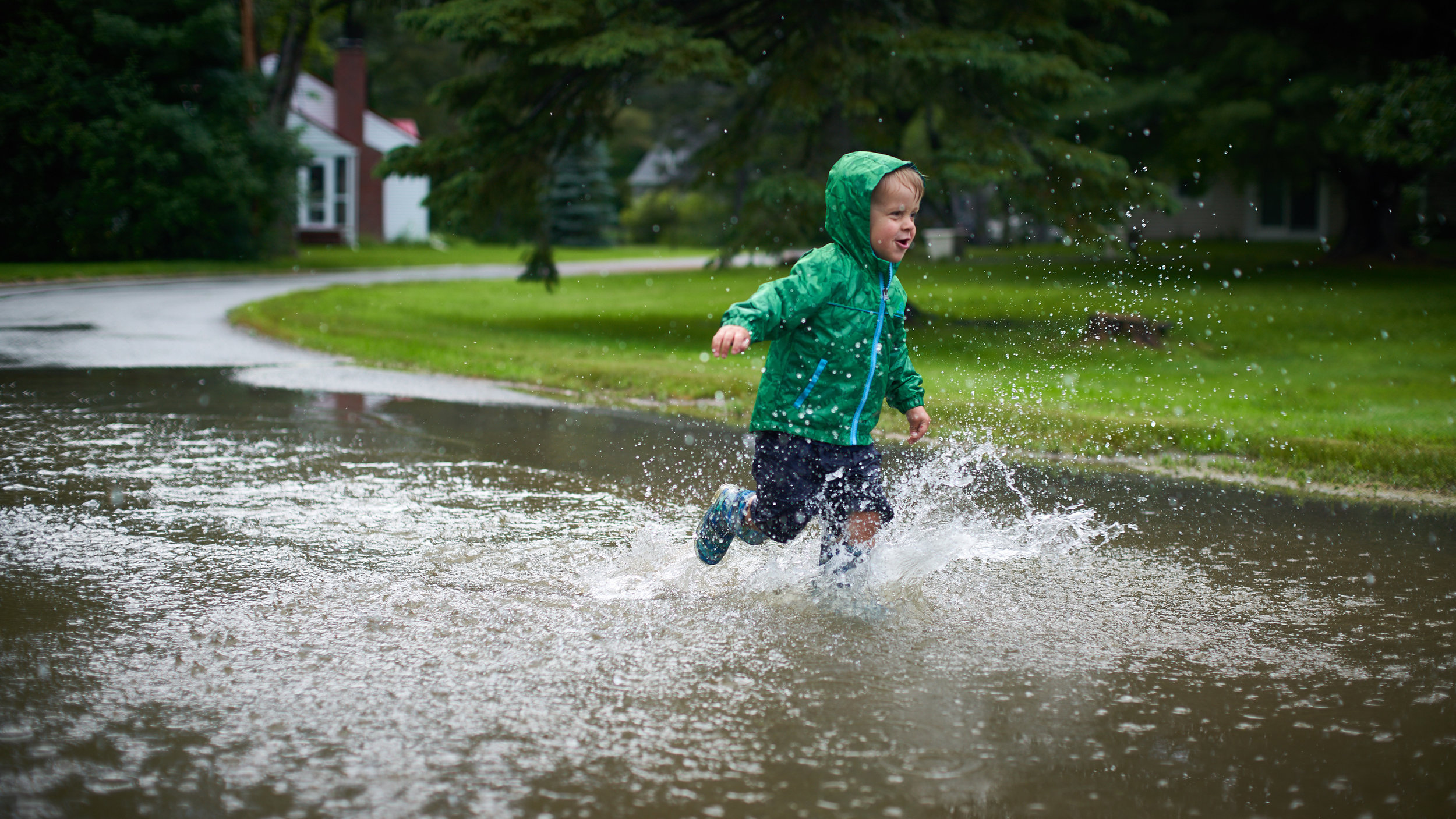 Grammy's House has all the best puddles.