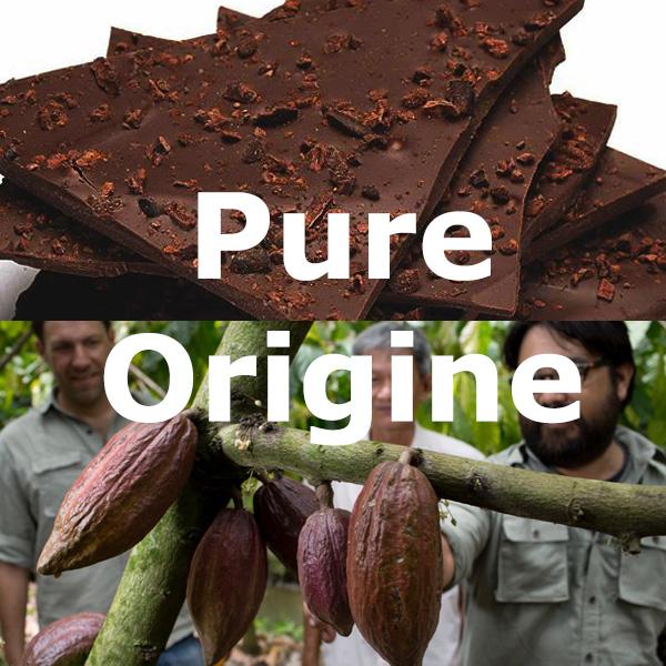 chocoladeverkopers - 20% korting op de Pure Origine chocolade pakketten met 5 soorten chocola, puur of (vegan)melk. Code 'klooker2749'