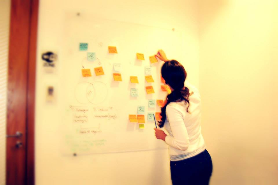 Conducting ideation session with the team.