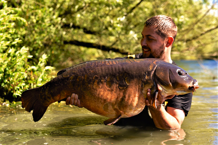 His dreams came true when he landed the Broken Lin at 40lb 8oz.