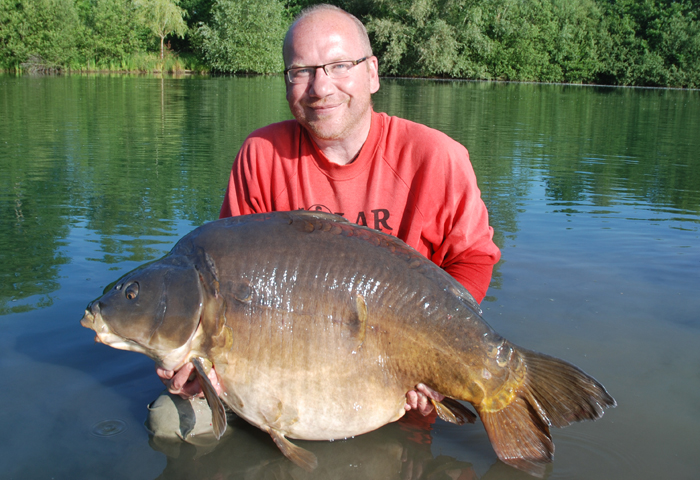 Mar Peché 63lb caught several years ago over a large bed of Scopex Squid