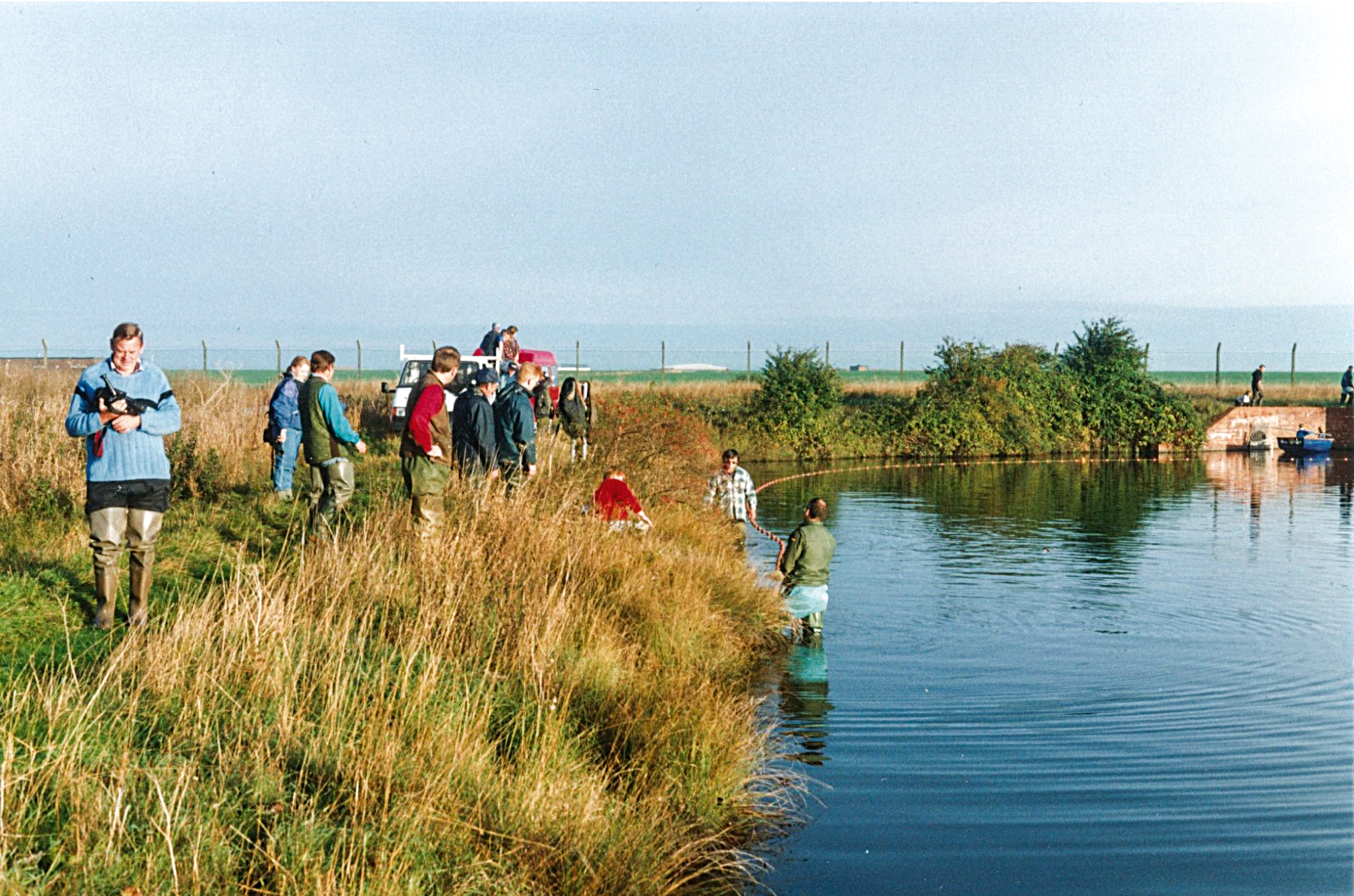 Harvesting carp stocks from Airfield Pool during the mid-90s
