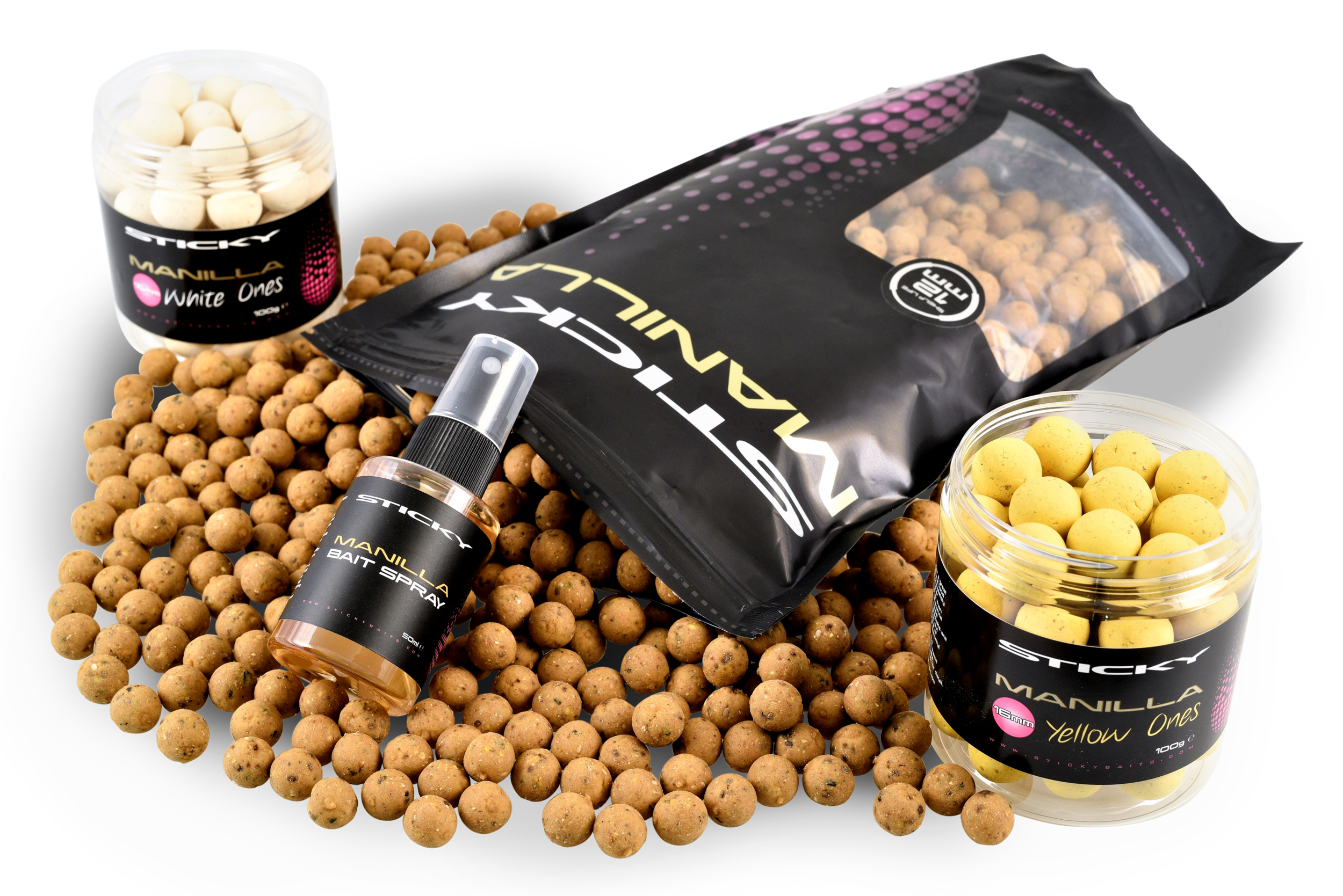Boilies FULL RANGE MANILLA Sticky Baits Pop Ups Pellets Glug *New* Wafters