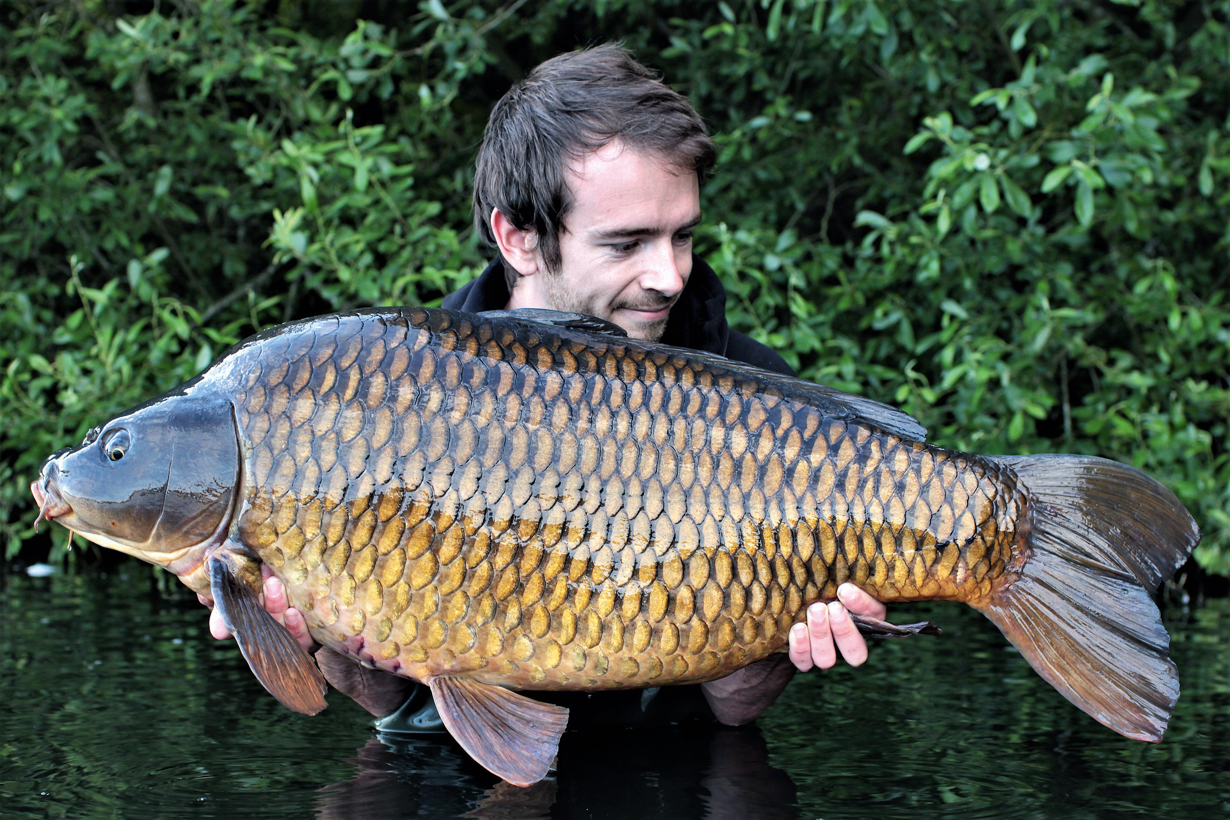 PIC 15- A breeze-block of a common, which turned out to be one of the biggest of the 16-fish he caught.jpg