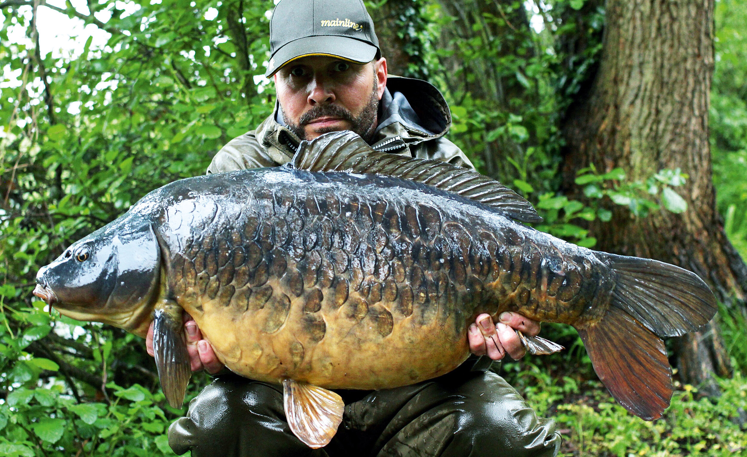 The soft-coated rig, this time with a bottom bait, tempted this fabulous looking carp!