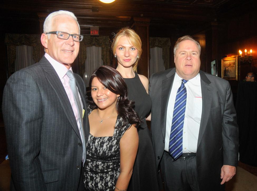 Honoree and family: Richard Haray, Joanna Haray, Milica Ristic, Greg Burke