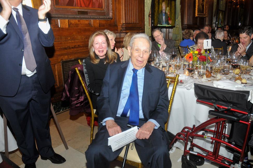 Honoree and family: John Samuelson, Barbara Samuelson (background)