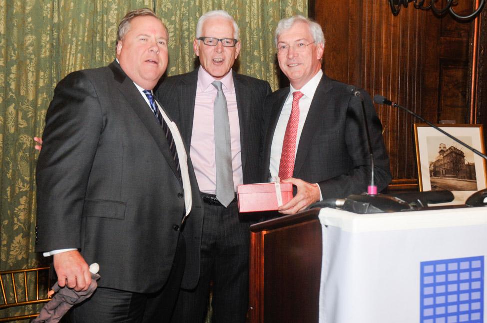 Greg Burke, Lane Office, Mary Lenox Sheafe Award honoree Richard Haray, Interpublic Group, and John Kelly, Frenkel & Company.