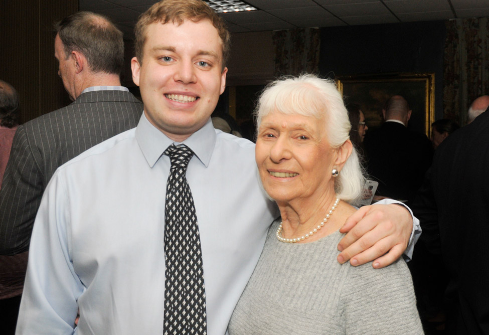 Resident Anita Kreiss with her grandson Jonathan Booth visiting from London.
