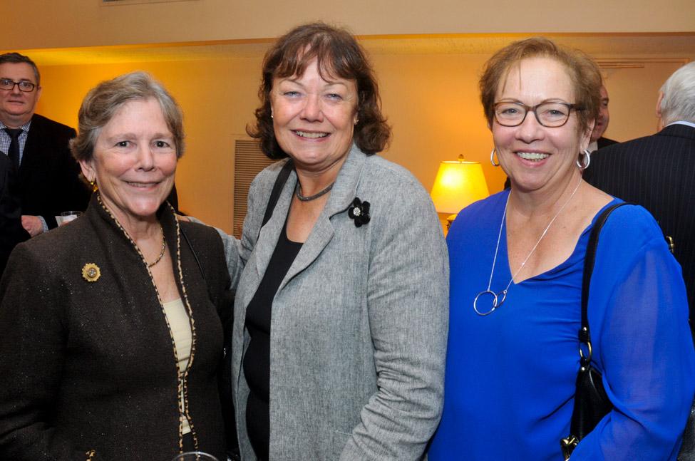 Barbara Evans, President James Lenox House Assoc., Nicky Heryet of Avison Young, and Fran Condon both JLHA Board members.