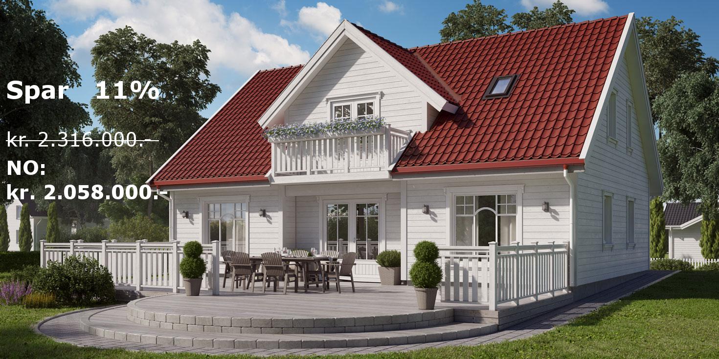 Dette er eit av våre mest populære hus med ein forbetra pris på 11%