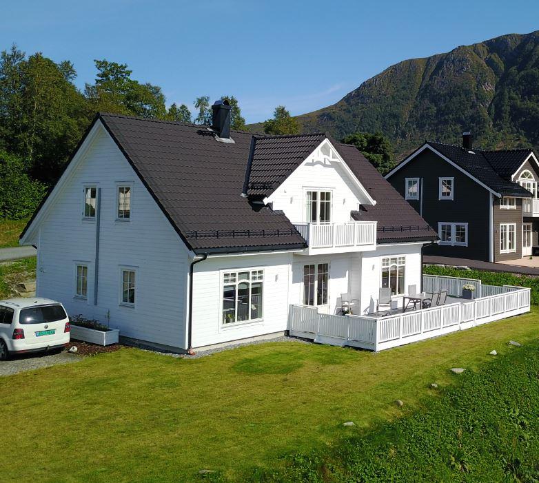 Her er eksempler på våre ferdige hus med kledning frå Fåvang Sag AS