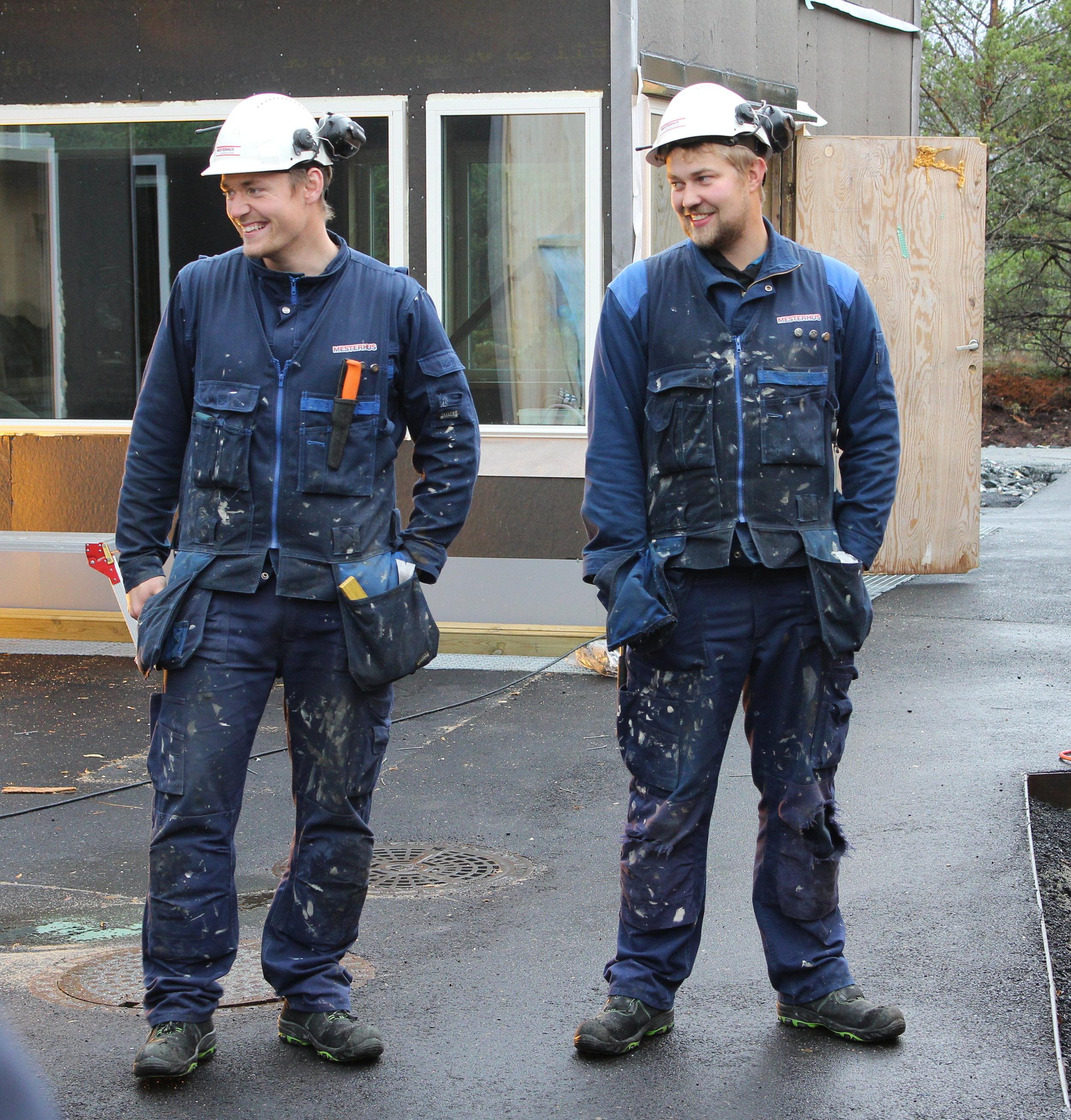 Robin Urke og Jørn Ole Viddal (Tømrer Service AS)