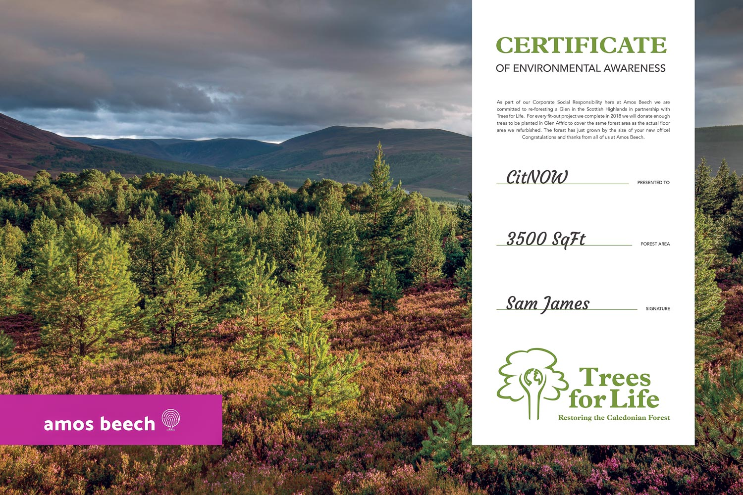 Images by Trees for Life, Graphic Design by Sinds77