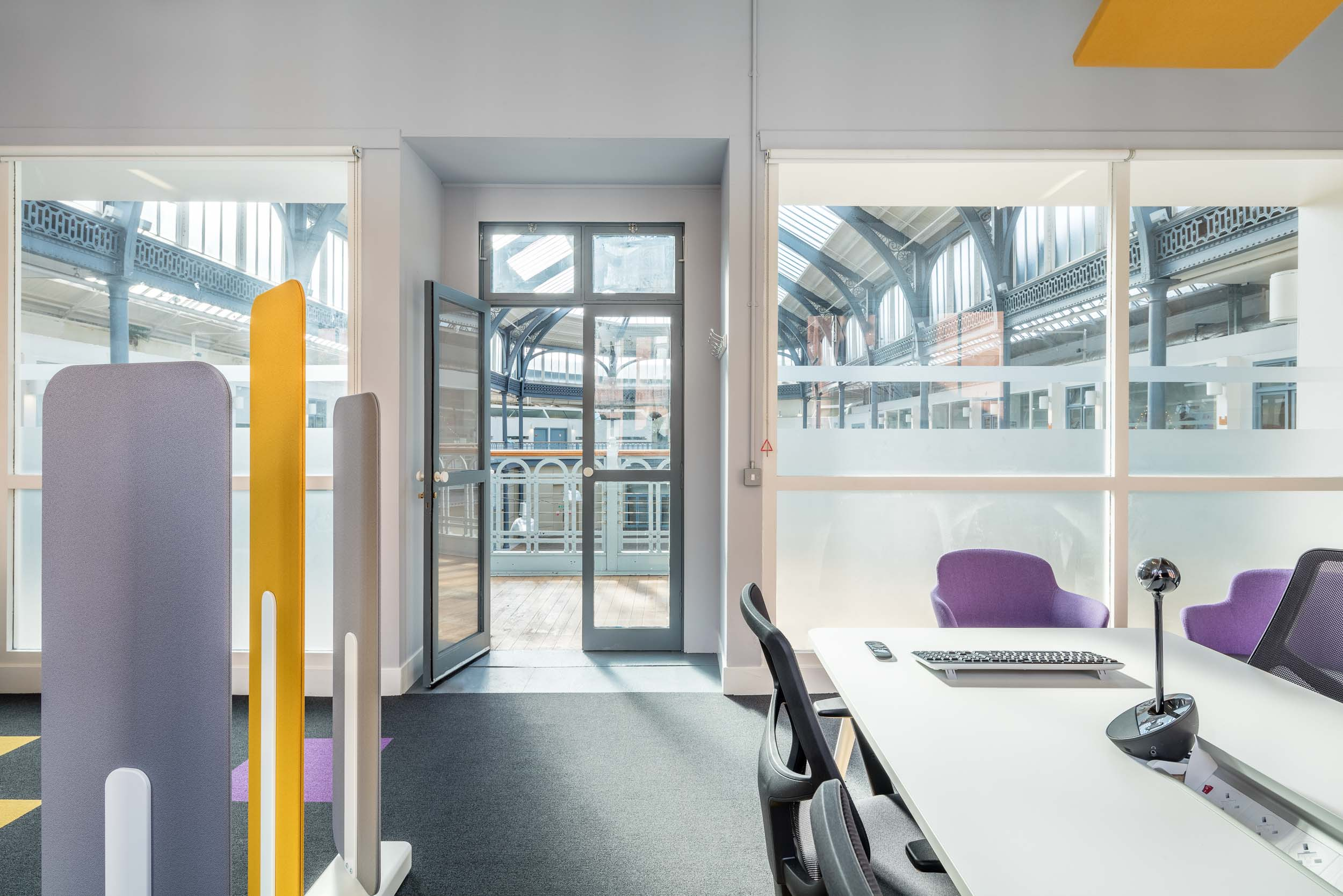 Acoustic office design at Help Musicians at The Briggait in Glasgow