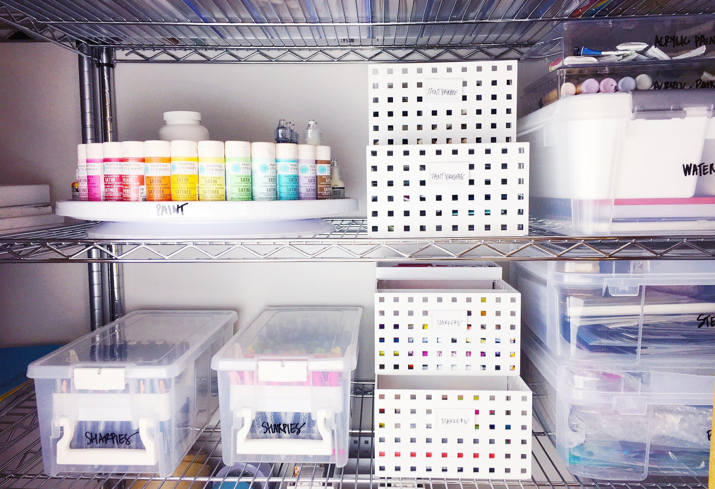 sharpie and paint organization