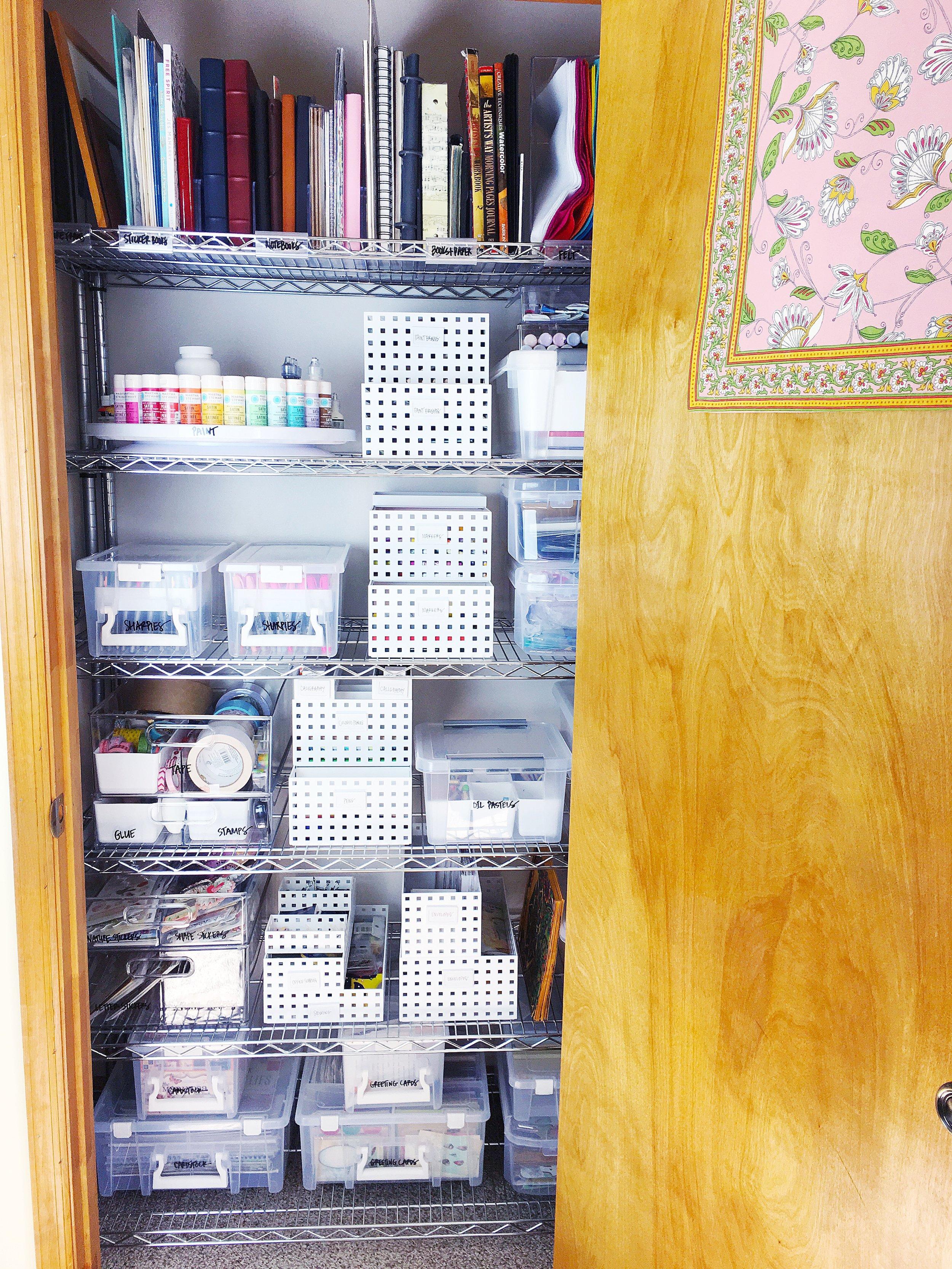 art closet after